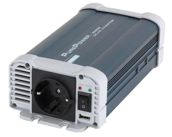Es Inverter 12Vdc-230Vac 300 Watt Zuivere Sinus Omvormer