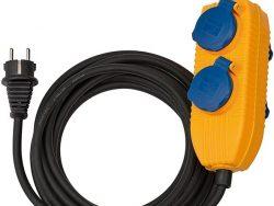 Brennenstuhl Bouwplaatsen-kabel IP44 met contactdozenblok